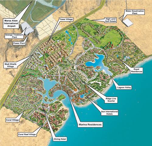 План курорта Port Ghalib (Египет)