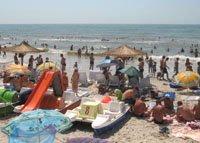 Пляж в Железном порту (Херсонская область, Украина)