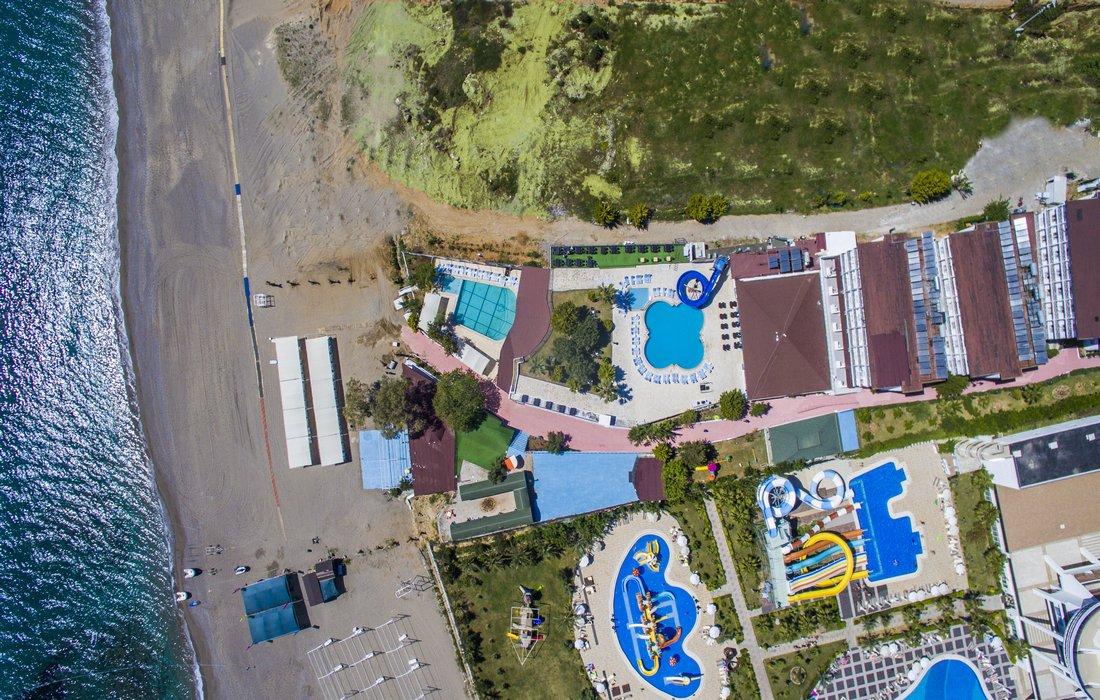 Панорама отеля Avalon Beach Hotel 4* (Авалон Бич Отель 4*)
